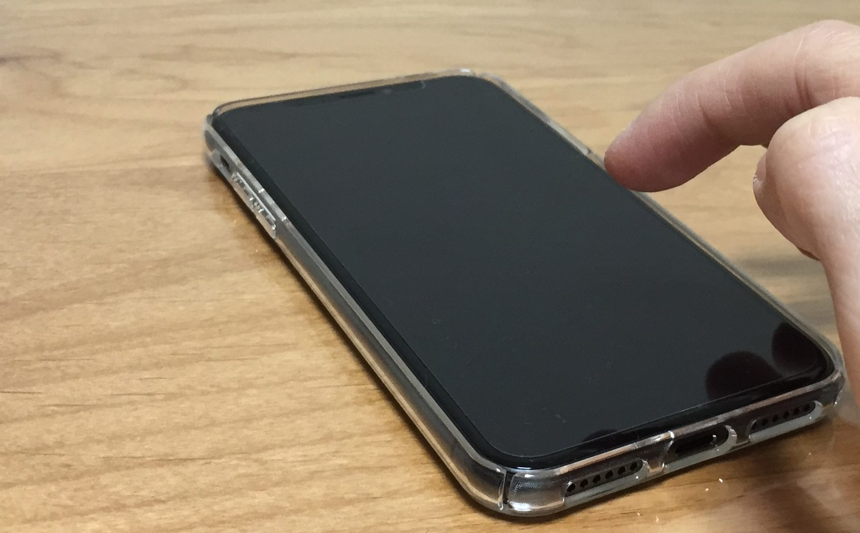 iPhone X touch for start