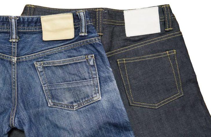SOMET スリムパンツ 色落ち比較 バックポケットとパッチ