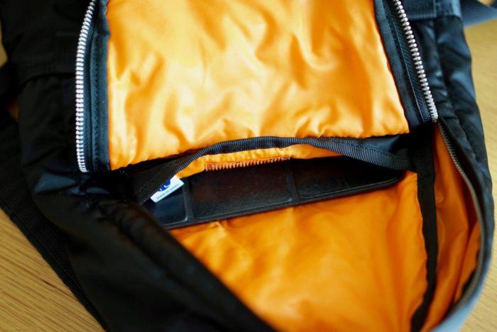 iPad Air 2 in Porter Tanker daypack 7l