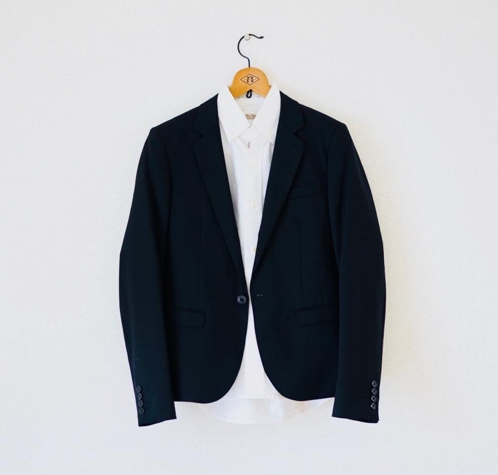 白シャツ テーラードジャケット