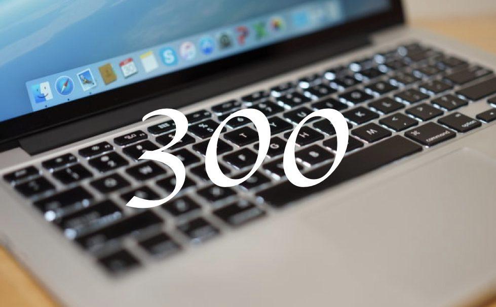 300 posts blog