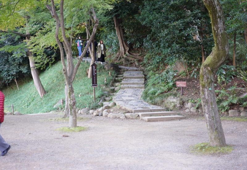 小石川後楽園 階段