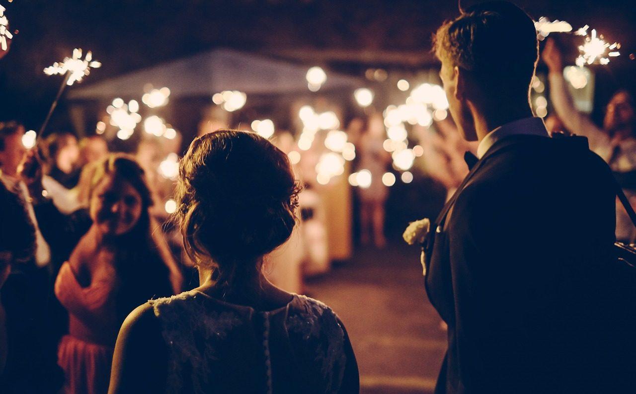 Wedding party scene