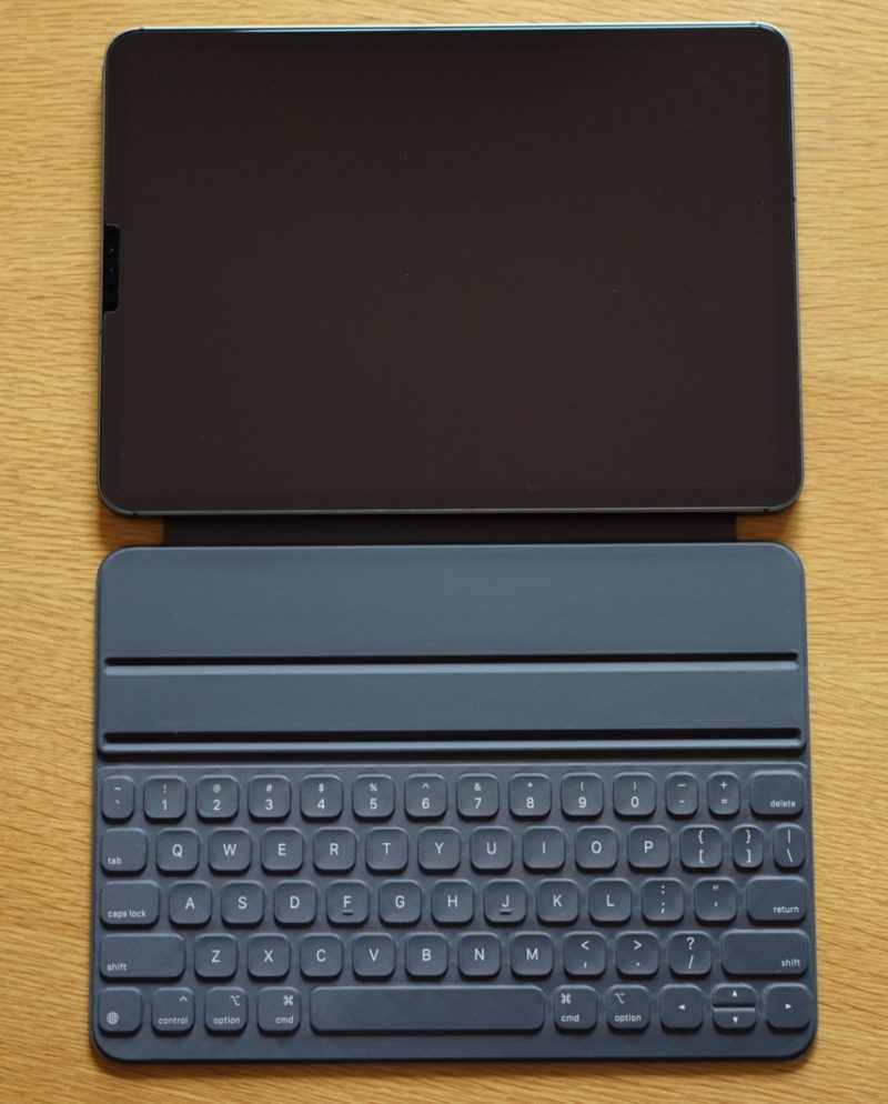 iPad pro smart keyboard folio opened