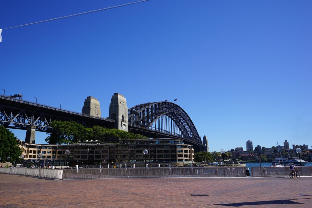 ハーバーブリッジとパイロン展望台 in シドニー