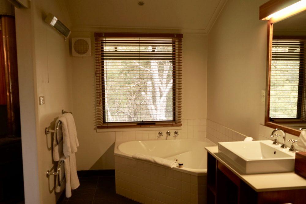 クレイドルマウンテンロッジのバスルーム