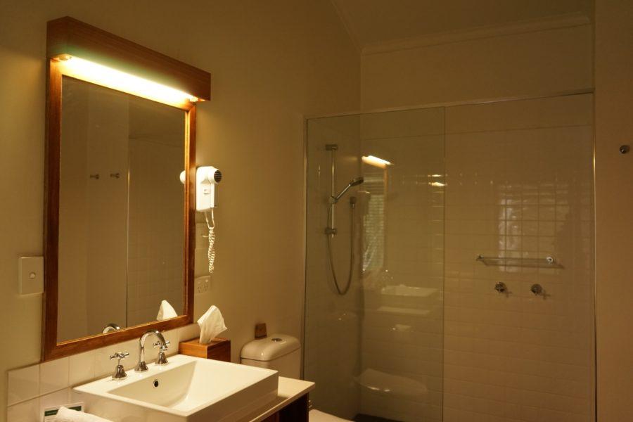 クレイドルマウンテンロッジ シャワールーム