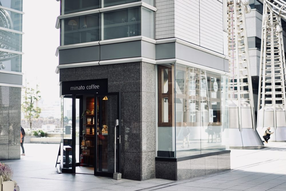 Minato-coffee 柱の中