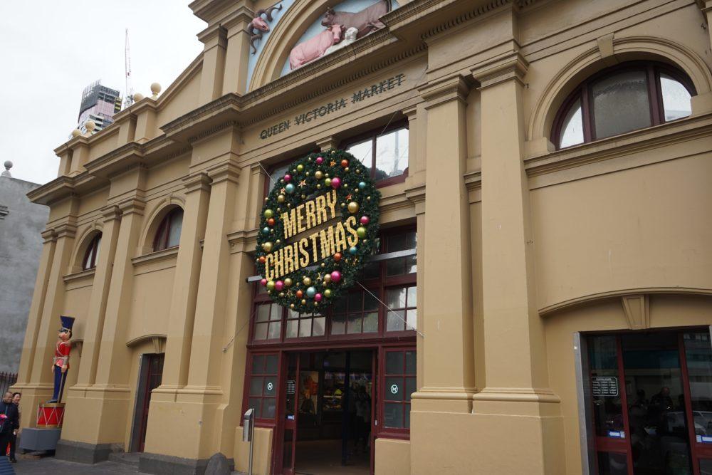 Queen Victoria market 入口 メルボルン