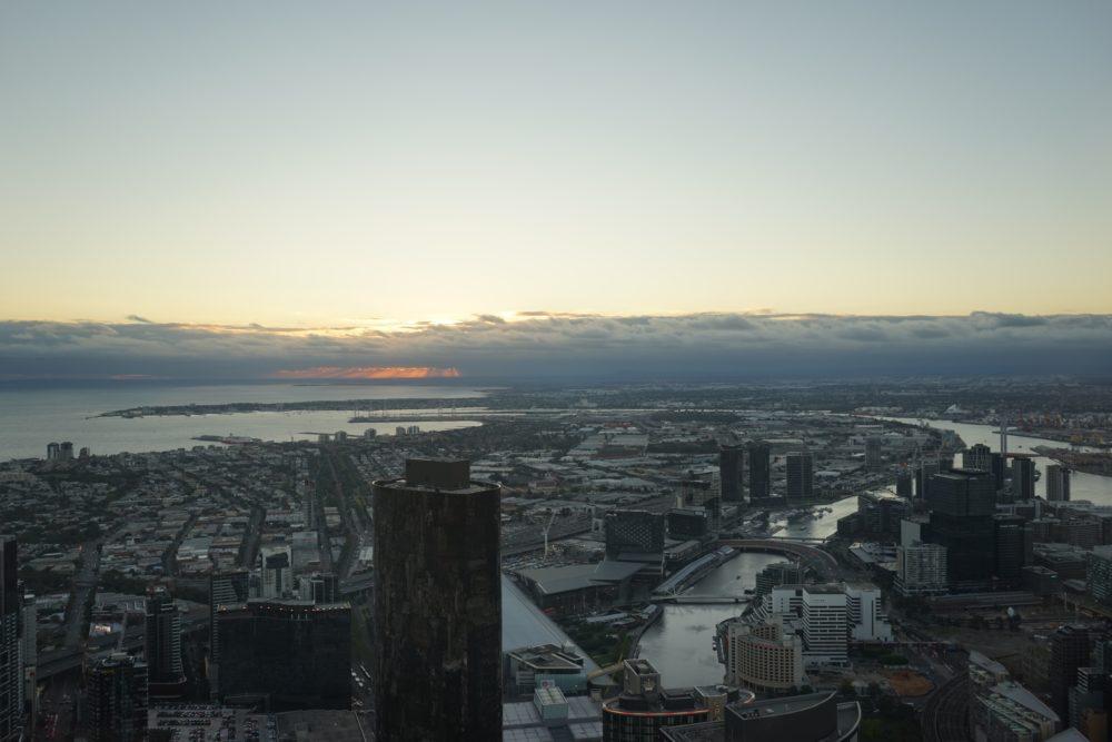 日が沈んだ後の景色 メルボルン