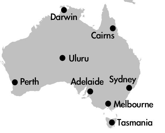 オーストライア 地図