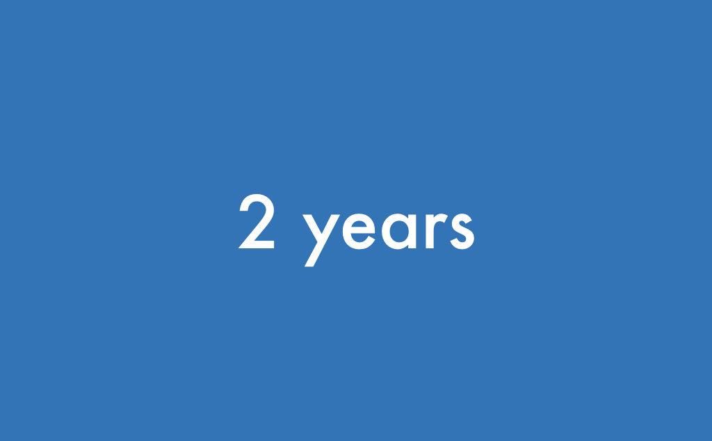 ブログ 運営2年経過