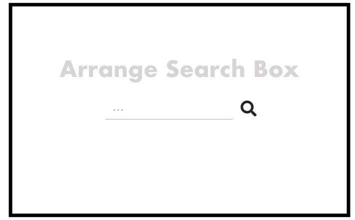 枠を消し下線のみで伸びる検索フォーム