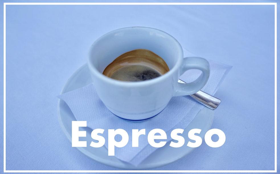 Espresso エスプレッソは美味しい