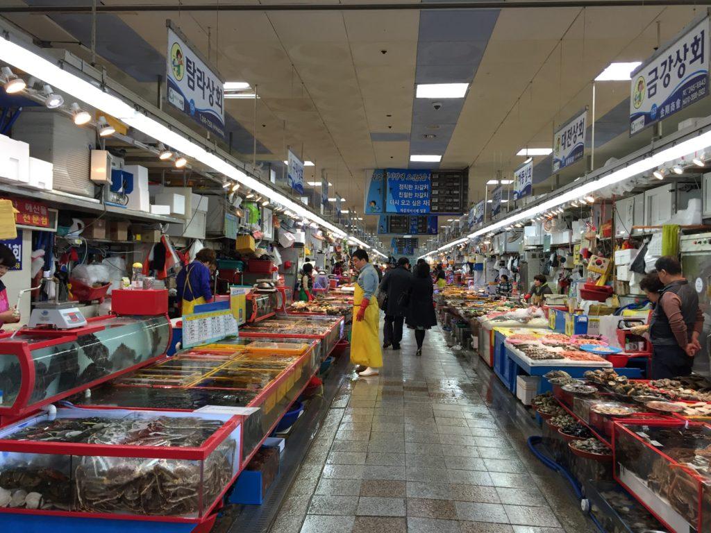 釜山 韓国 ジャガルチ 市場