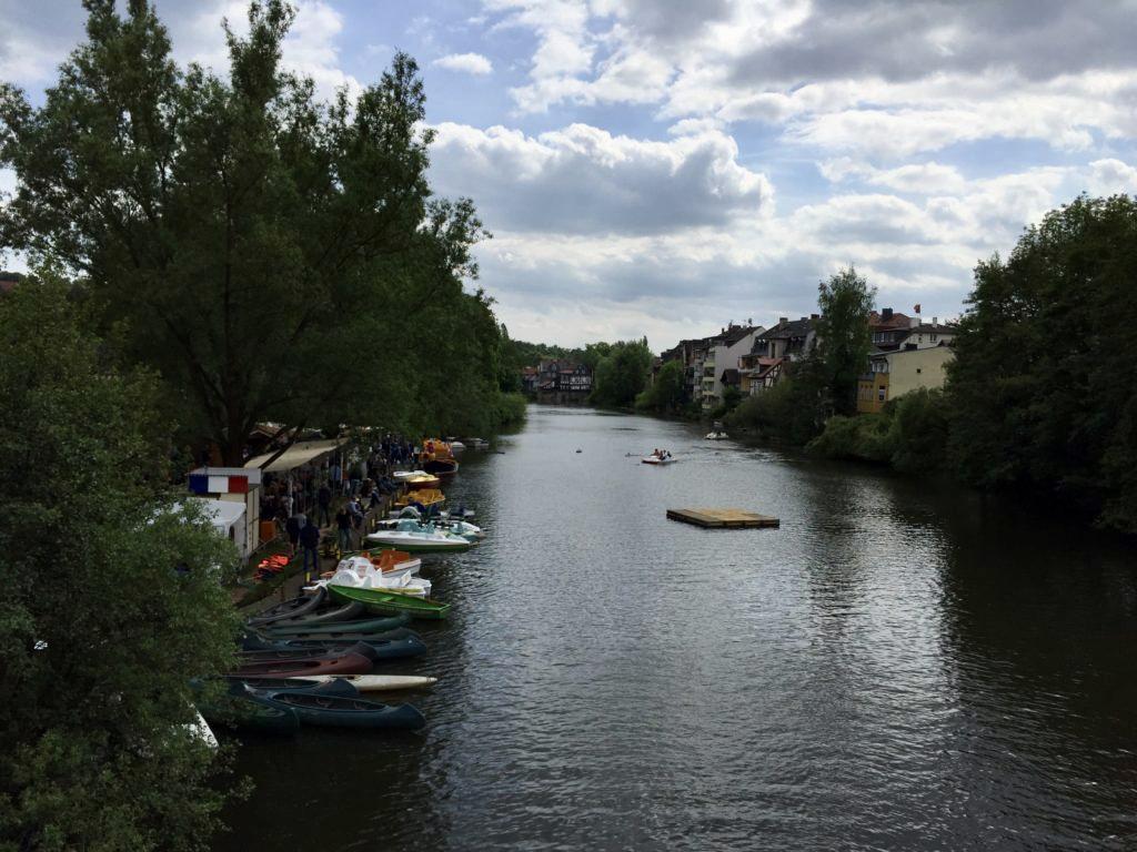 マールブルク 川沿いの景色