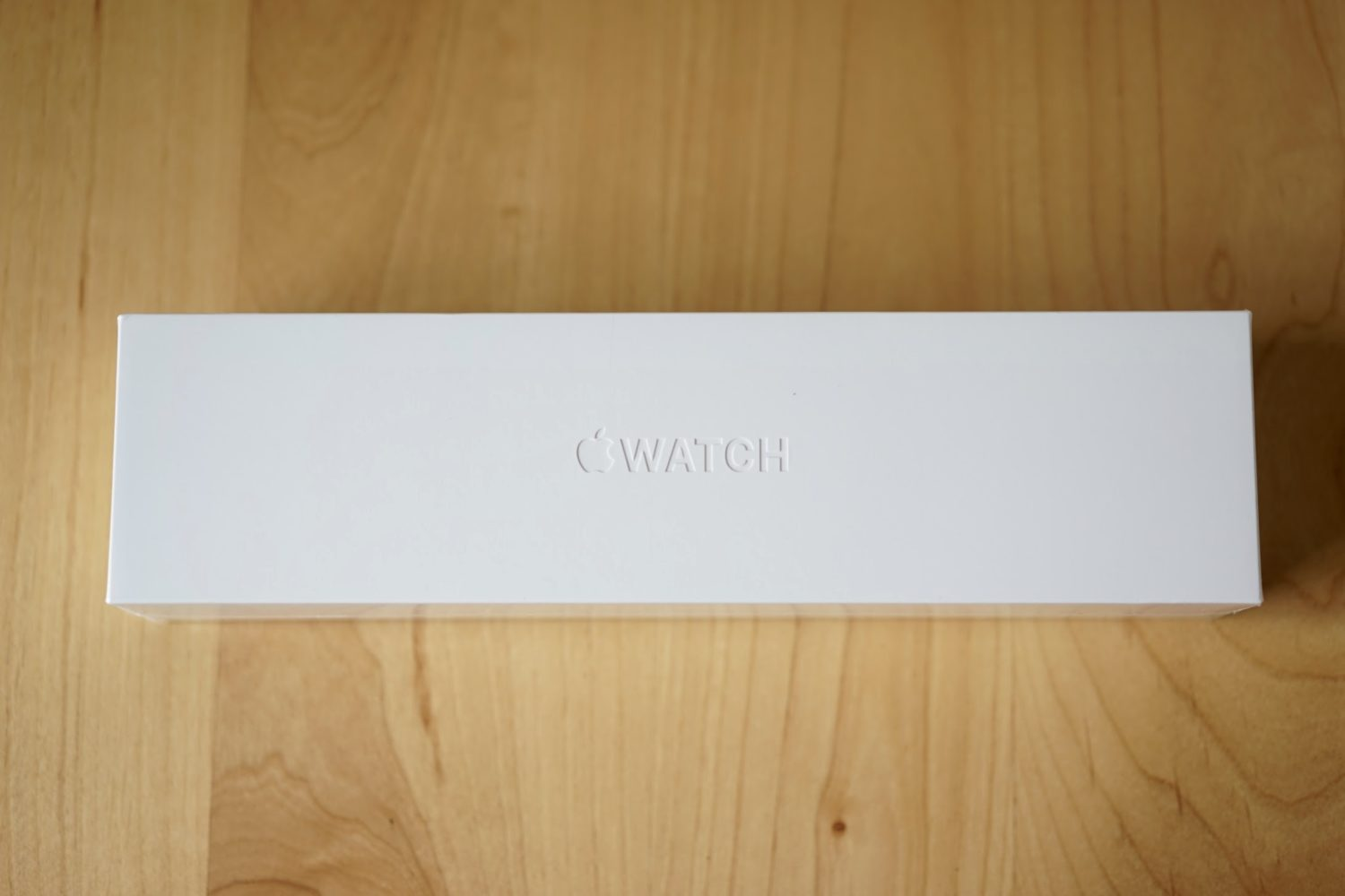 Apple Watch box top view