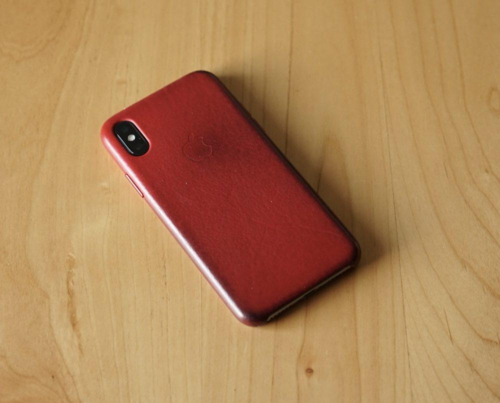 IPhone X 純正レザーケース 2年目