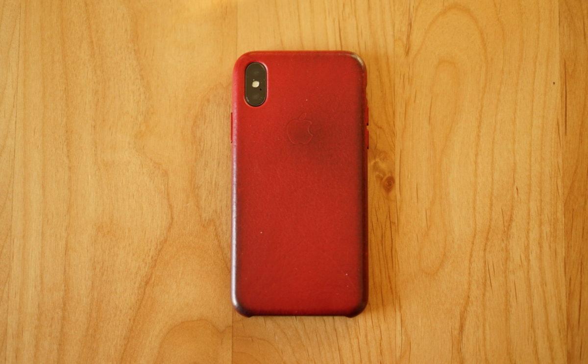 IPhone X 純正レザーケース2年目
