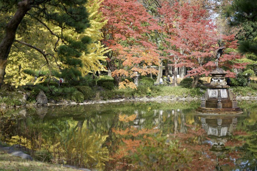 日比谷公園 池 紅葉