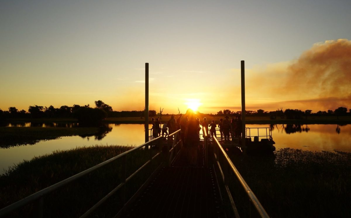 夕陽 素晴らしい時間 カカドゥ国立公園