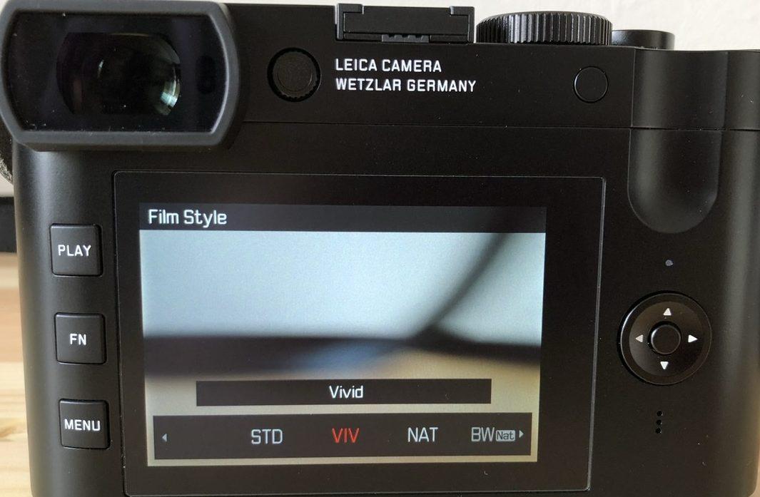 ライカQ2 Leica Q2 フィルムスタイル 変更