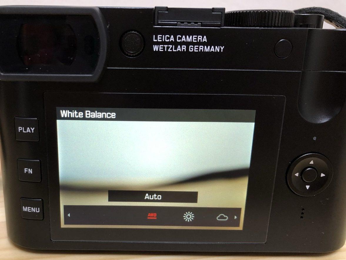 FNボタンに設定したホワイトバランス Leica Q2