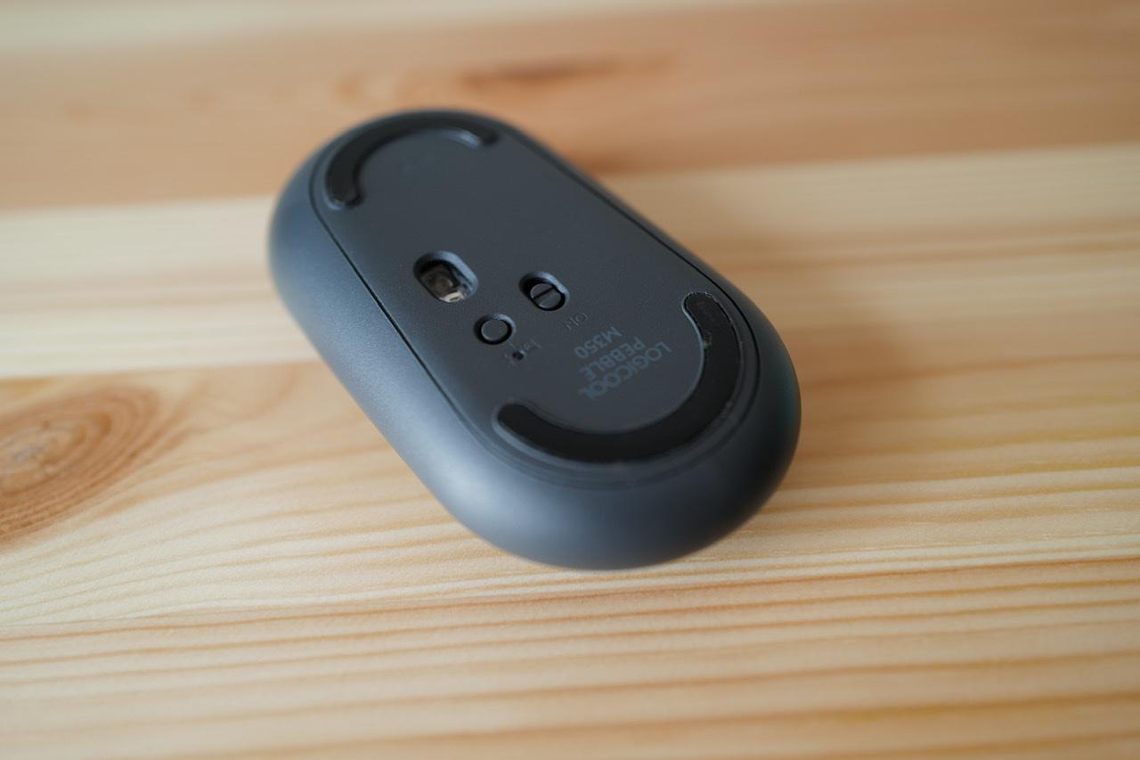 Logicool pebble マウス m350 裏