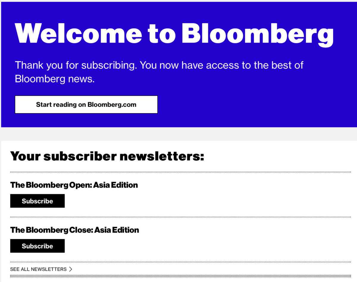 Welcome to Bloomberg