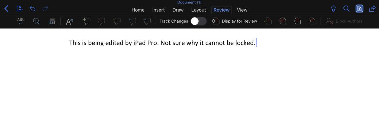 iPadではwordにパスワードをかけられない?