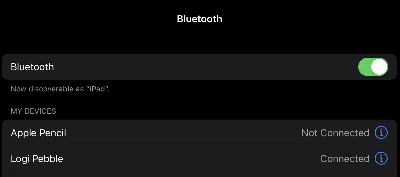 iPad Pro bluetoothでマウスに接続