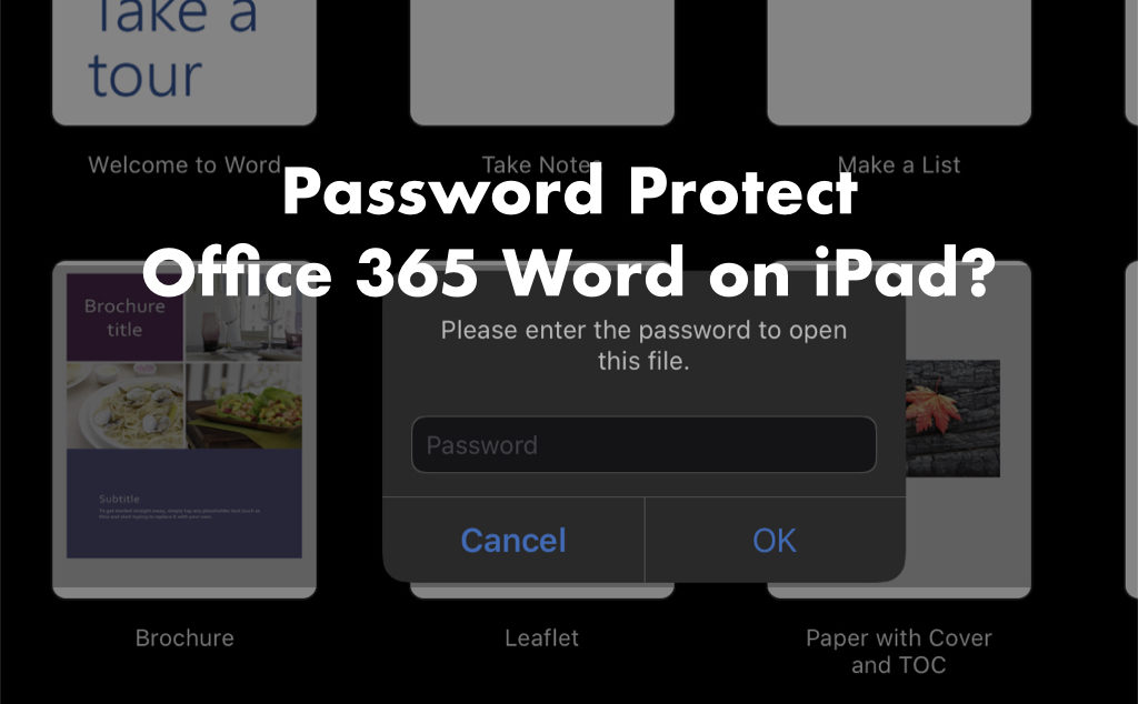 Password protect office 365 word