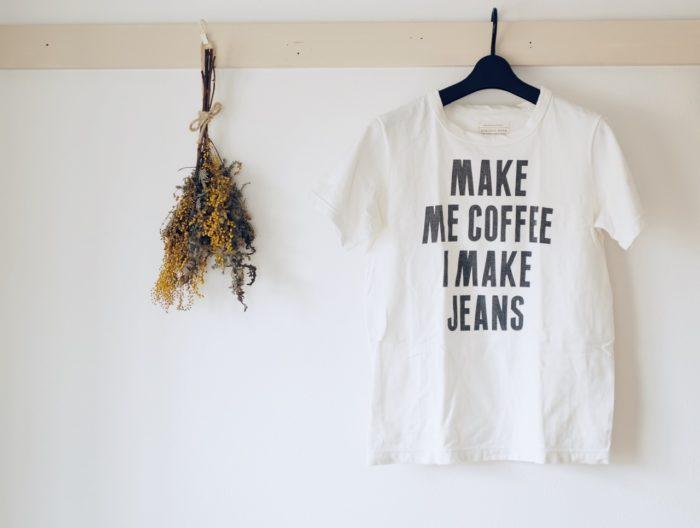 フルカウント Tシャツ MAKE ME COFFEE I MAKE JEANS