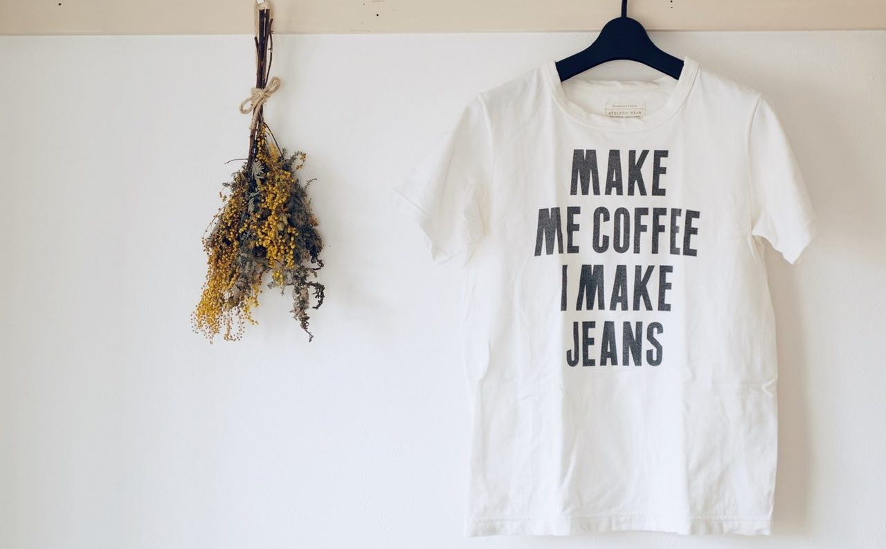 フルカウント Tシャツ MAKE ME COFFEE I MAKE JEANS