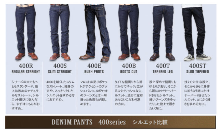 UES 400series シルエット比較