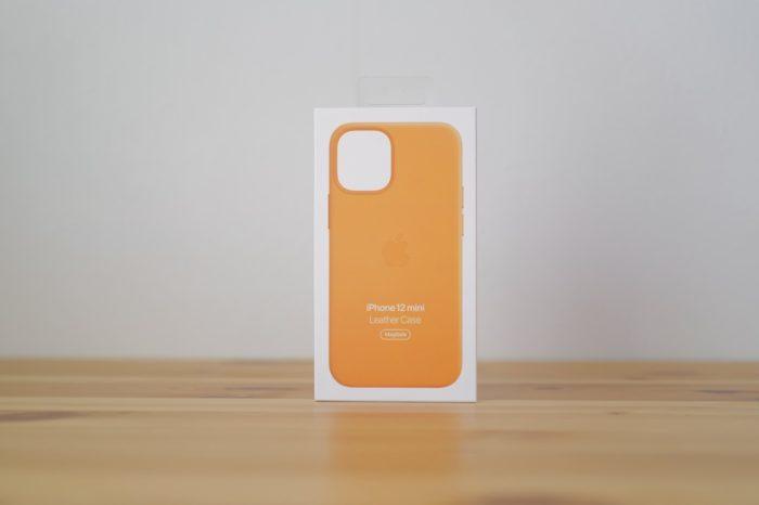 iphone 12 mini 純正レザーケース 箱
