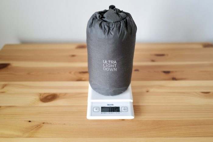 ウルトラライトダウン 重さ XS 187 g