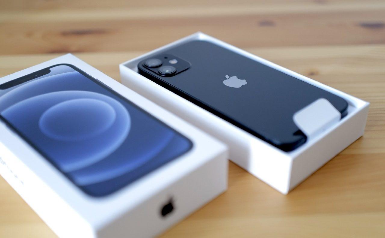 iPhone 12 mini 箱 開封 本体
