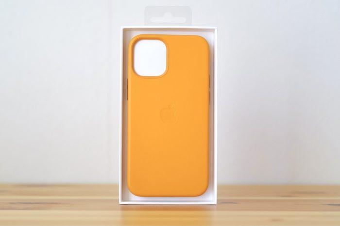 iphone 12 mini 純正レザーケース カリフォルニアポピー