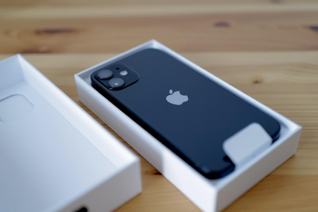 iPhone 12 mini 開封