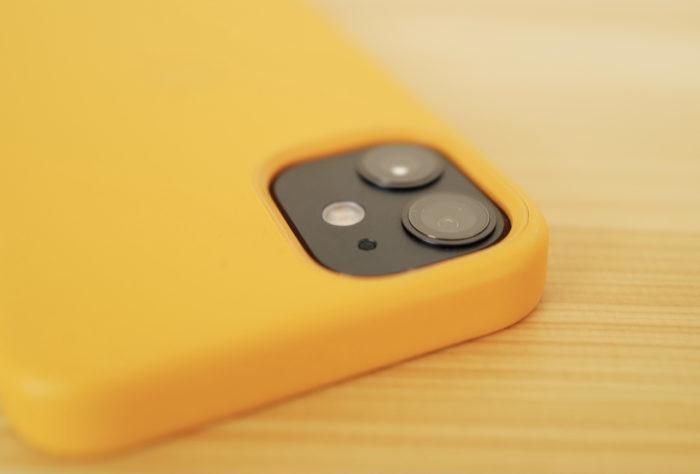 カメラエリア iphone 12 mini 純正レザーケース