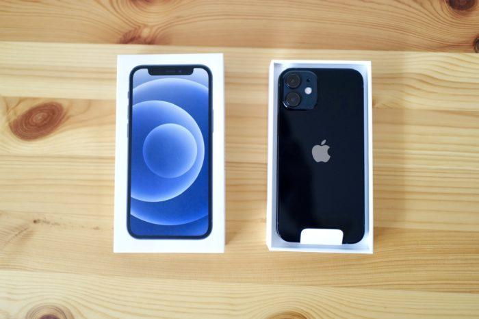 iPhone 12 mini 開封 上から