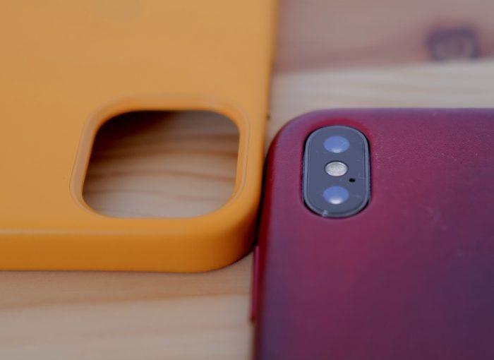 iphone 12 miniとXのレザーケース比較
