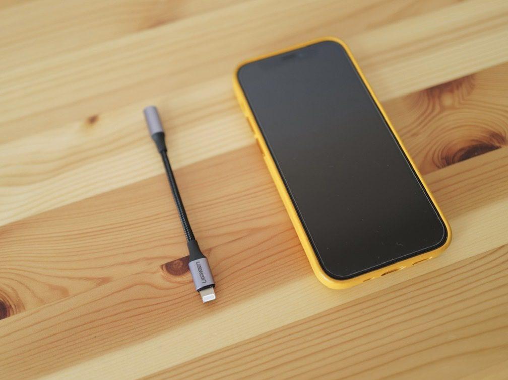 ヘッドセットアダプター IPhone用 iPhone 12 miniと比較