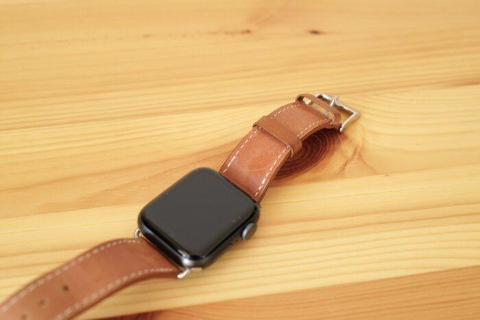 Apple Watch レザーベルト 茶