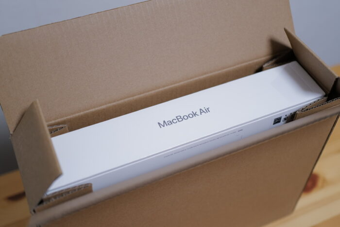 M1 MacBook Air box in box
