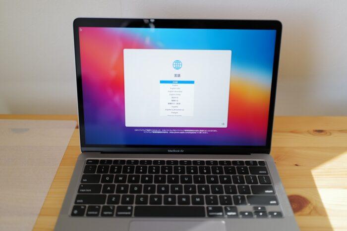 M1 MacBook Air 言語設定