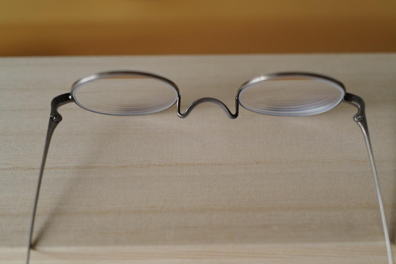 金子眼鏡店 T-416 ATS アンティークシルバー 上から