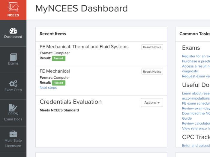 Meets NCEES Standard