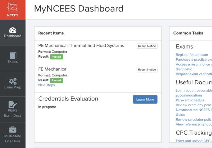 Credentials-evaluation-inprogress ダッシュボード